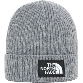 The North Face Box Logo Cuff Beanie Youth TNF medium grey heather